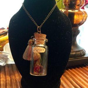 Tasseled Rose Jar pendant